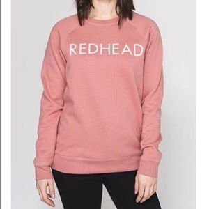NWT Brunette the Label 'Redhead' Crewneck Sweater